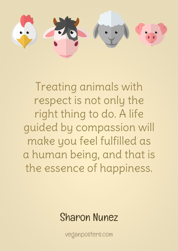 "treating animals with the same respect What does it mean to be ""treated like an animal""  with respect, and kindness, and consideration, for some of the same reasons that we are."
