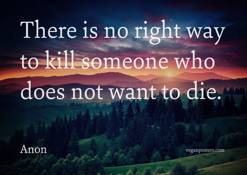 There is no right way to kill someone who does not want to die.