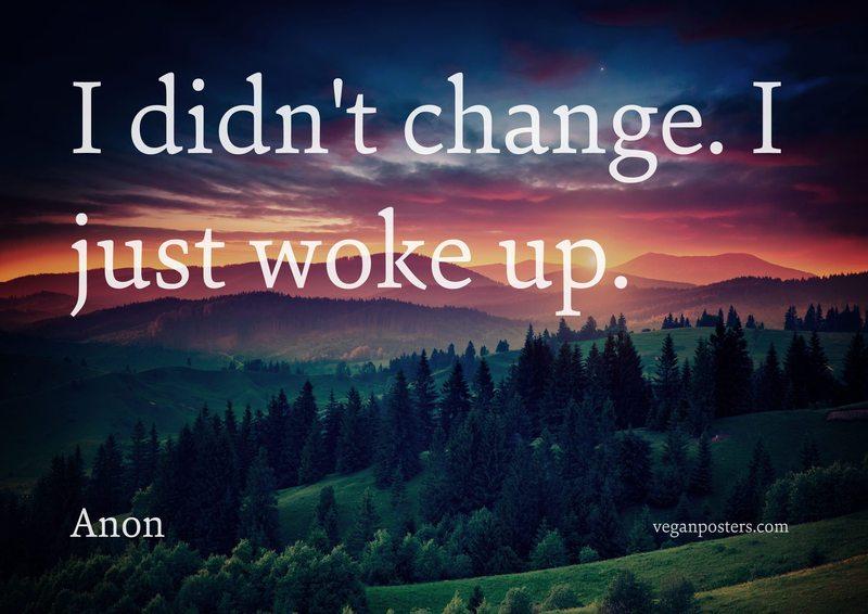 I didn't change. I just woke up.