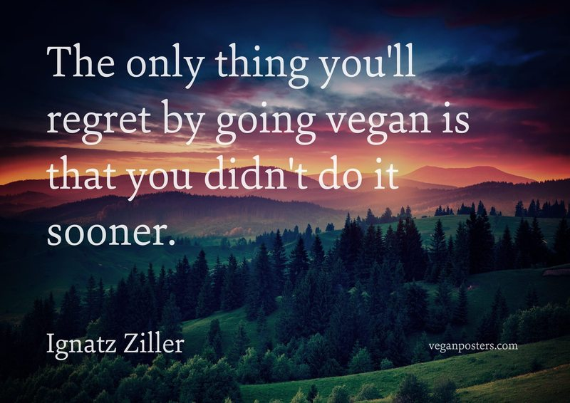 The only thing you'll regret by going vegan is that you didn't do it sooner.