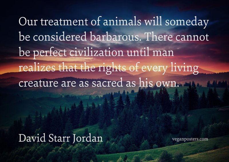 David Starr Jordan Quote: Our Treatment Of Animals Will Someday Be