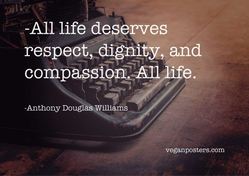 All life deserves respect, dignity, and compassion. All life.