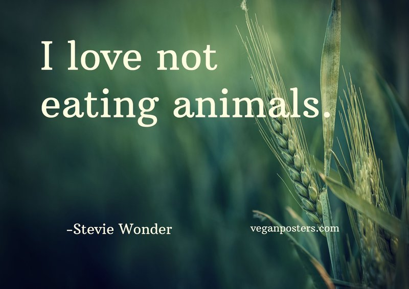 I love not eating animals.