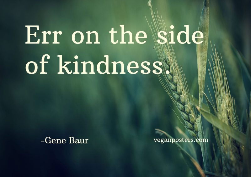 Err on the side of kindness.