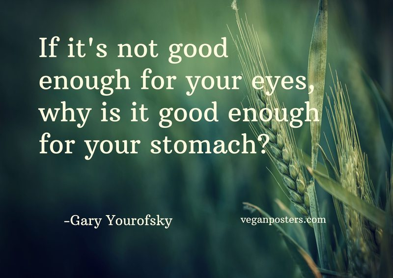 If it's not good enough for your eyes, why is it good enough for your stomach?