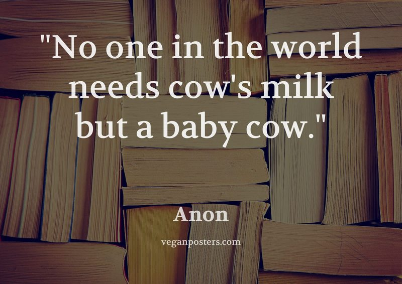 No one in the world needs cow's milk but a baby cow.
