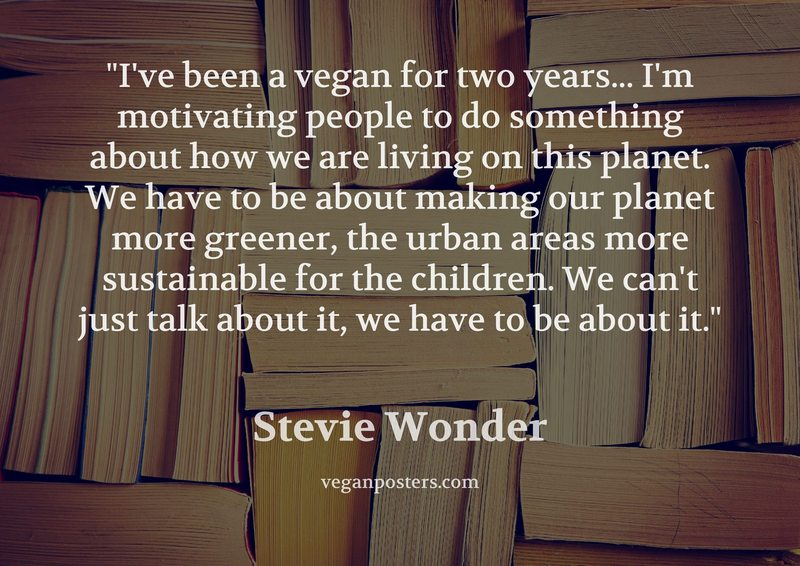 I've been a vegan for two years... I'm motivating people to do something about how we are living on this planet. We have to be about making our planet more greener, the urban areas more sustainable for the children. We can't just talk about it, we have to be about it.