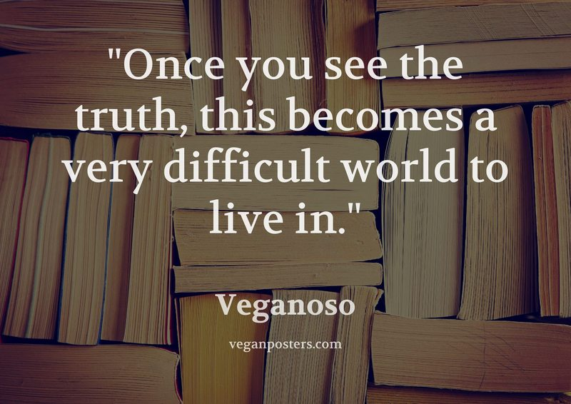 Once you see the truth, this becomes a very difficult world to live in.