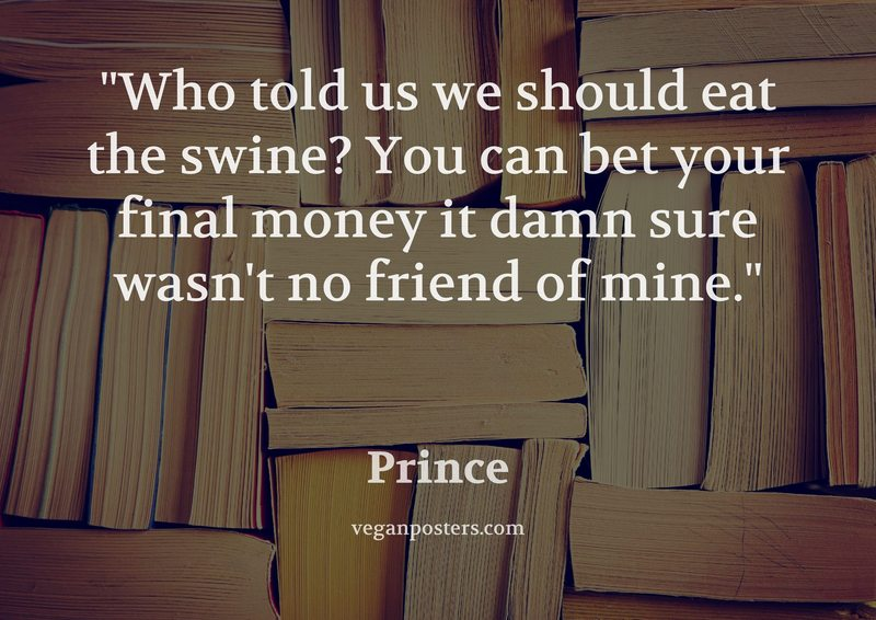 Who told us we should eat the swine? You can bet your final money it damn sure wasn't no friend of mine.