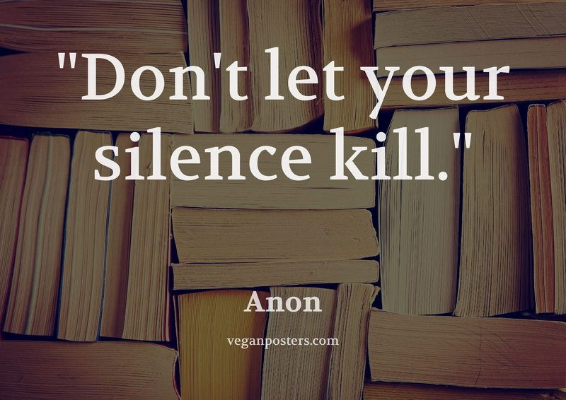 Don't let your silence kill.