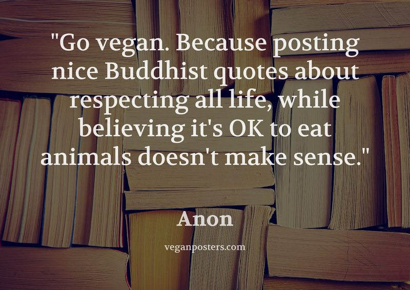 Go vegan. Because posting nice Buddhist quotes about respecting all life, while believing it's OK to eat animals doesn't make sense.