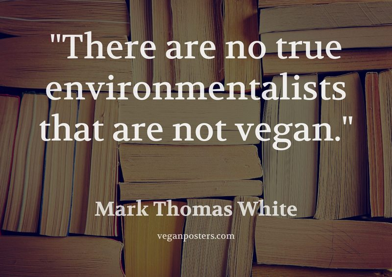 There are no true environmentalists that are not vegan.