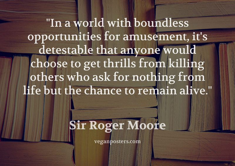 In a world with boundless opportunities for amusement, it's detestable that anyone would choose to get thrills from killing others who ask for nothing from life but the chance to remain alive.