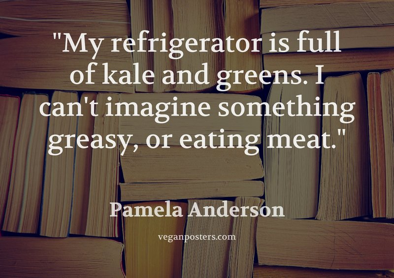 My refrigerator is full of kale and greens. I can't imagine something greasy, or eating meat.
