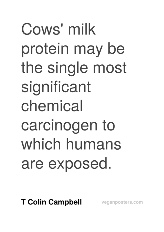 Cows' milk protein may be the single most significant chemical carcinogen to which humans are exposed.