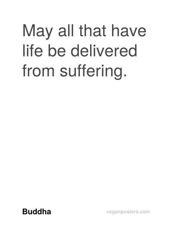 May all that have life be delivered from suffering.