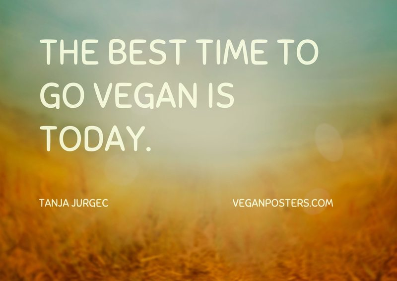 The best time to go vegan is today.