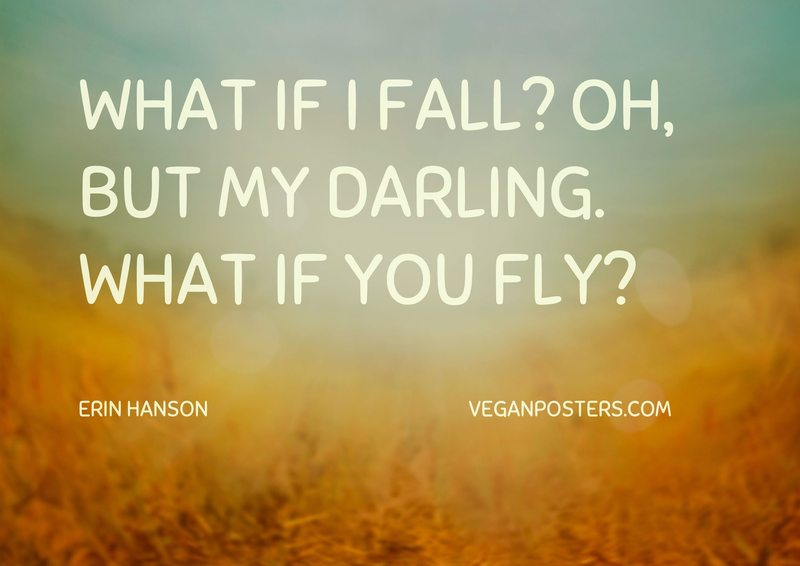 What if I fall? Oh, but my darling. What if you fly?