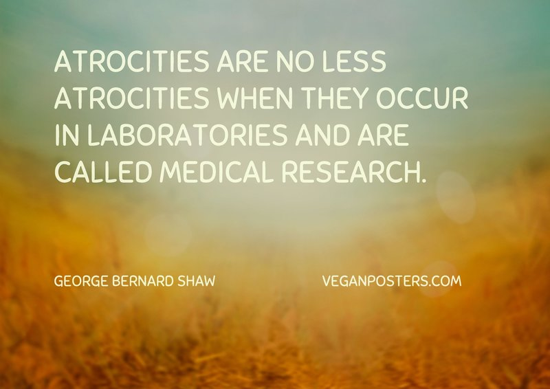 Atrocities are no less atrocities when they occur in laboratories and are called medical research.