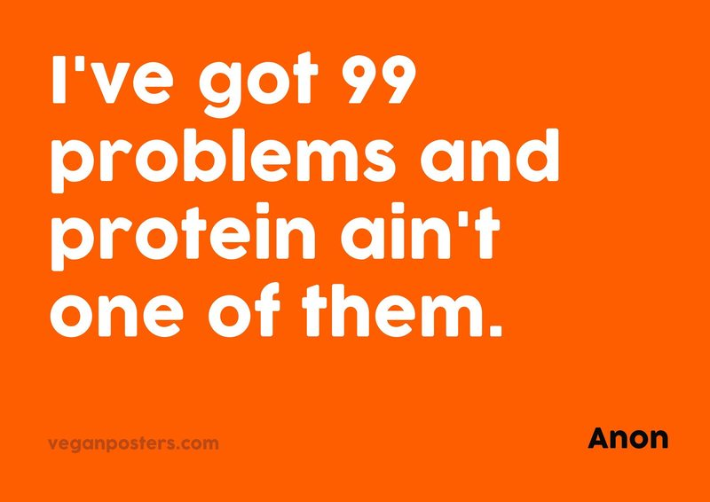 I've got 99 problems and protein ain't one of them.
