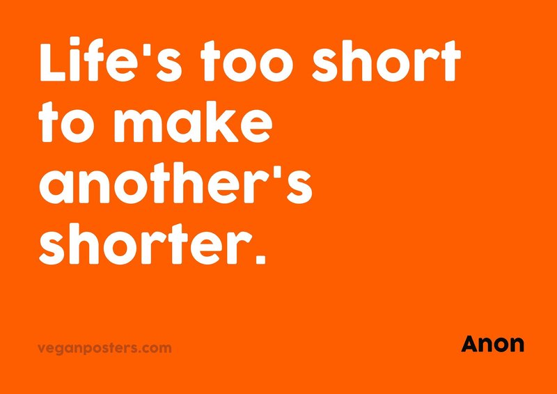 Life's too short to make another's shorter.