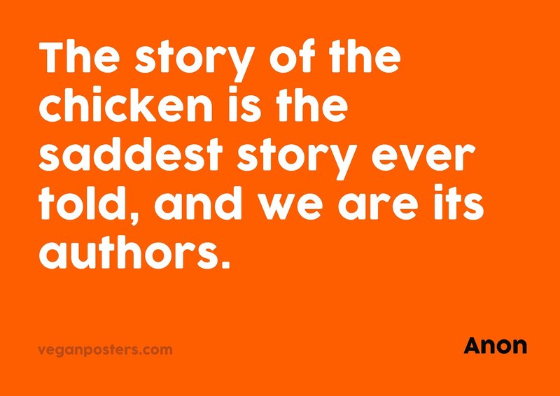 The story of the chicken is the saddest story ever told, and we are its authors.