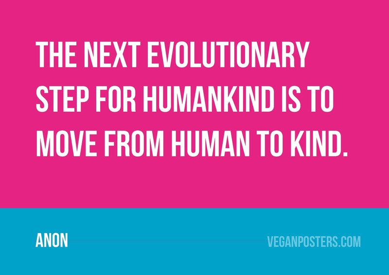 The next evolutionary step for humankind is to move from human to kind.