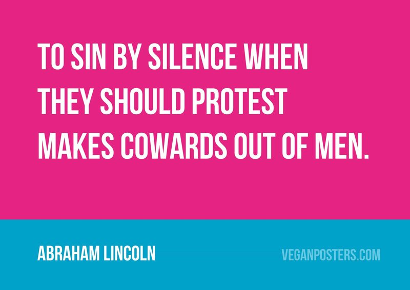 To sin by silence when they should protest makes cowards out of men.