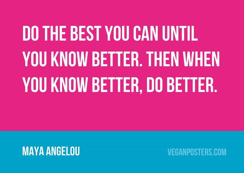 Do the best you can until you know better. Then when you know better, do better.