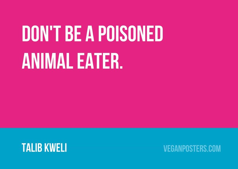 Don't be a poisoned animal eater.