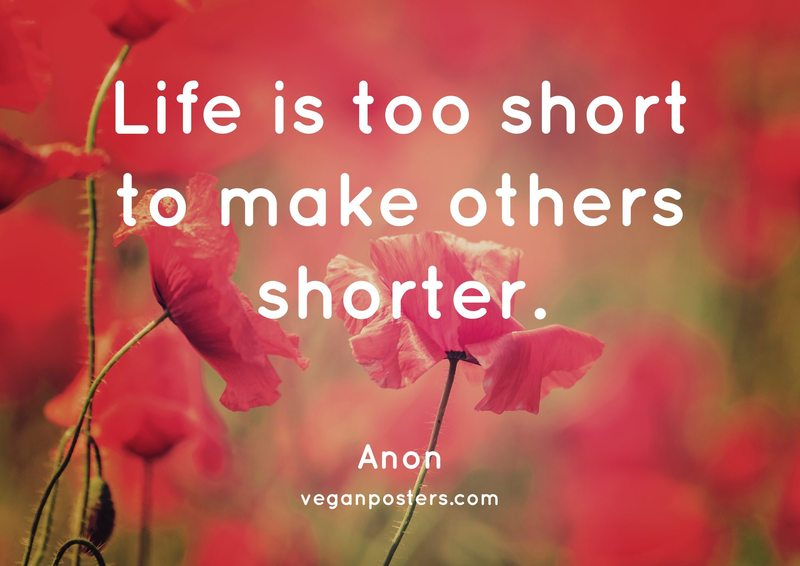 Life is too short to make others shorter.