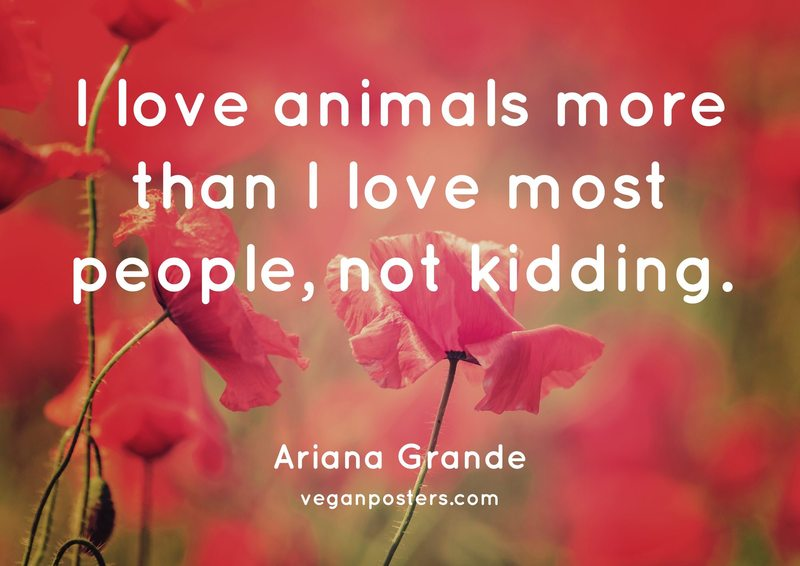 I love animals more than I love most people, not kidding.