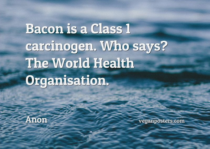 Bacon is a Class 1 carcinogen. Who says? The World Health Organisation.