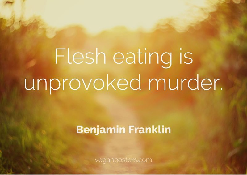 Flesh eating is unprovoked murder.
